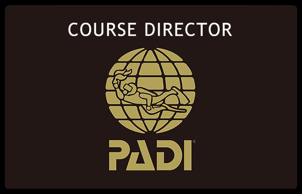 PADI最高ランクインストラクターの行う講習を受けてください。
